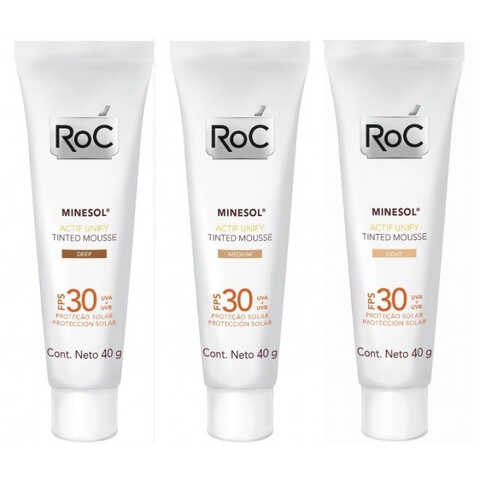 Protetor Solar Roc Minesol Actif Unify Tinted Mousse