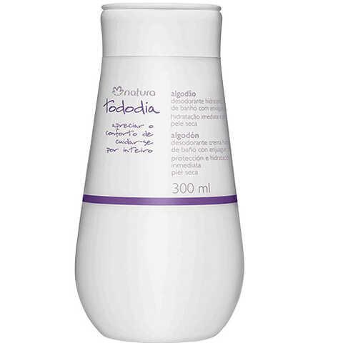 Desodorante Hidratante De Banho Com Enxágue Algodão Pele Seca Tododia