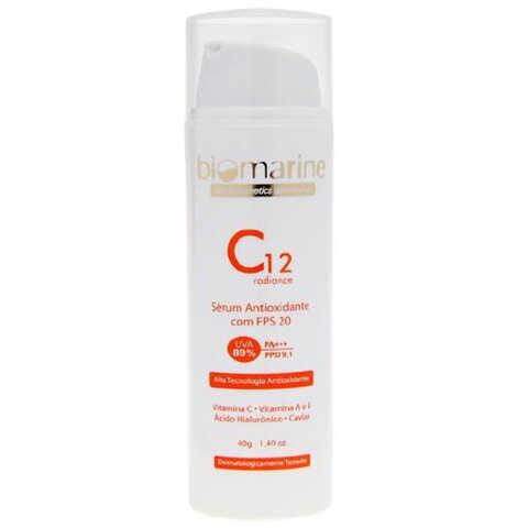 C12 Radiance Serum Antioxidante FPS 20 Biomarine - Rejuvenescedor Facial