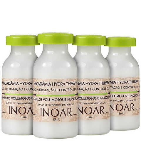 Inoar Macadâmia Hydra Therapy - Ampola de Tratamento 4x 15ml