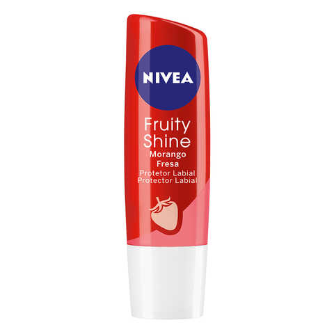 Protetor Labial Nivea Fruity Shine Morango Stick