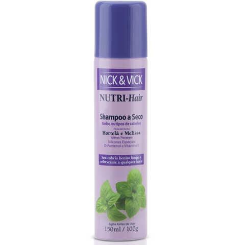 Nutri-Hair Hortelã e Melissa Nick & Vick - Shampoo a Seco