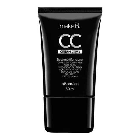 Make B. CC Cream Base Multifuncional 7 em 1 - De R$ 64,99 por R$ 45,49