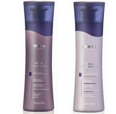 Shampoo e Condicionador Intensificador Pós Progressiva, Amend