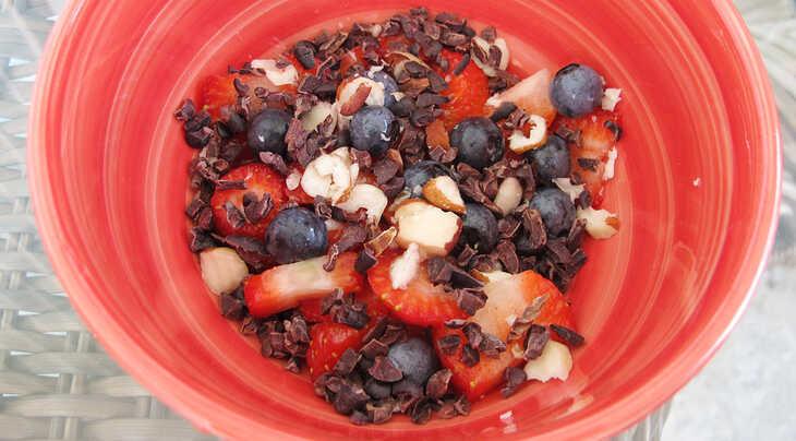Lanche com Frutas Vermelhas
