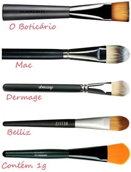 Pinceis para maquiagem