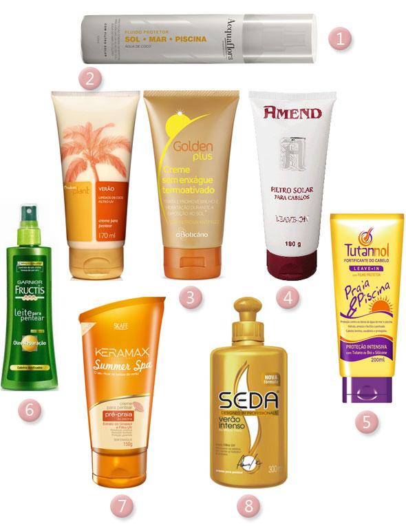 Filtro solar para cabelos!