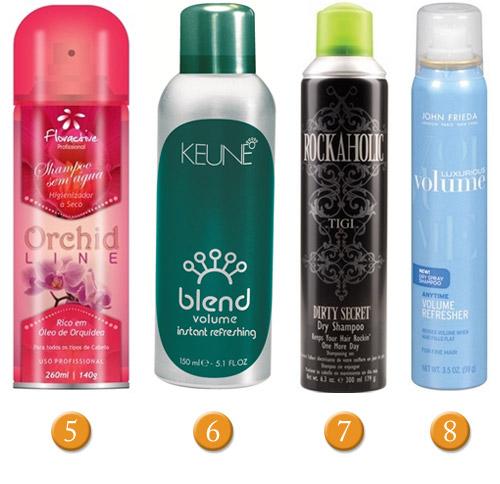 Você usa shampoo a seco?