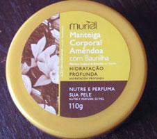 Manteiga Corporal Amêndoa com Baunilha Muriel