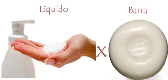 Sabonete líquido ou em barra