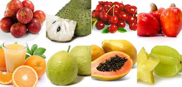 Ranking dos 50 Alimentos com Mais Vitamina C